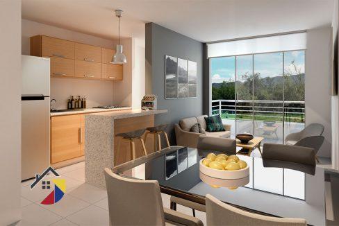 sala-cocina-comedor-balon-nobori-apartamento-pereira