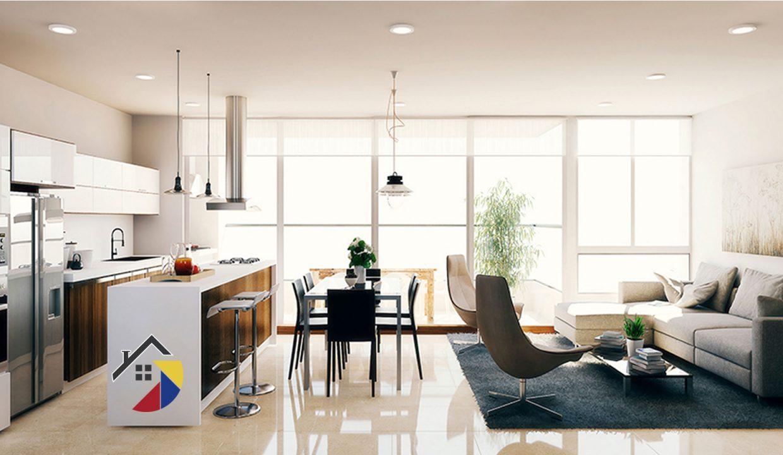 sala-cocina-apartamento-saona-cali
